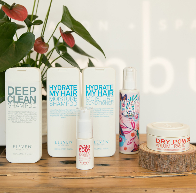 eleven australia products are available at ombu salon + spa in edmonds washington