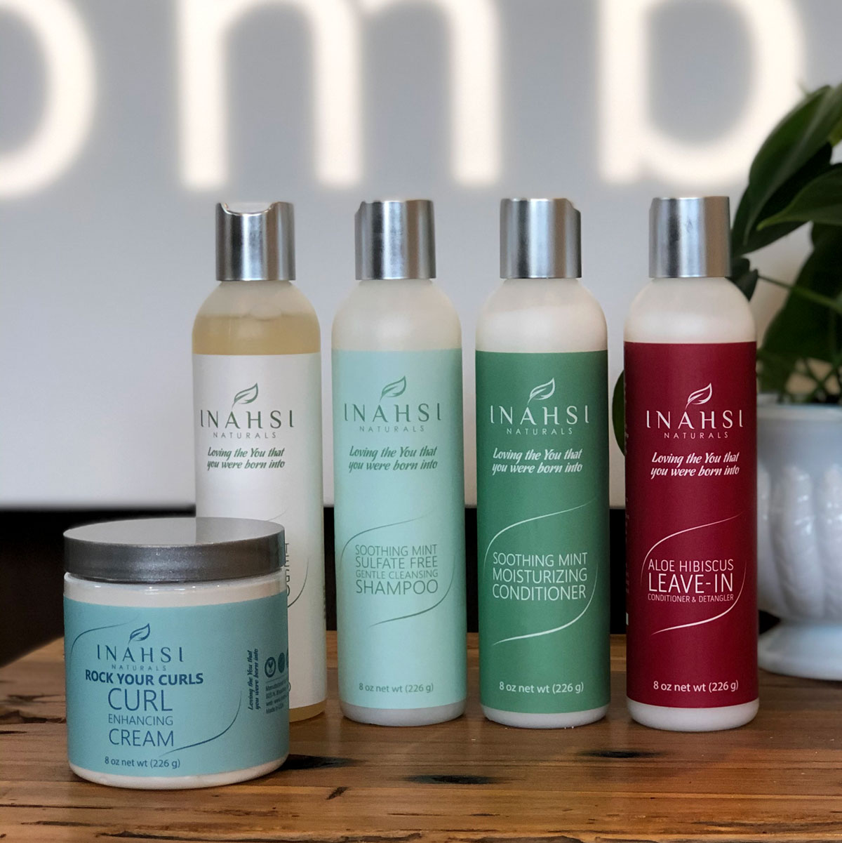 inahsi naturals haircare products are available at ombu salon + spa in edmonds, wa
