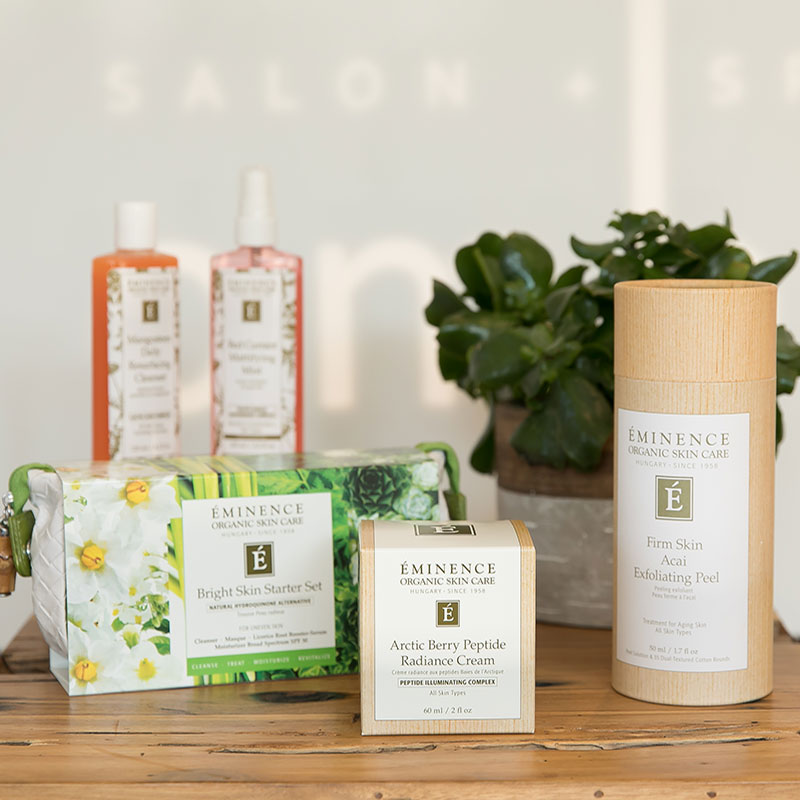eminence organic skincare is available at ombu salon + spa in edmonds, washington