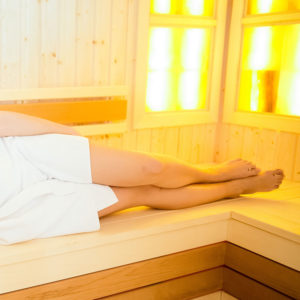 infrared sauna at Ombu Salon + Spa in Edmonds, Washington