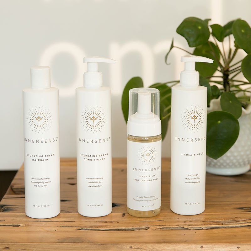 innersense organic beauty products are available at ombu salon + spa in edmonds, wa